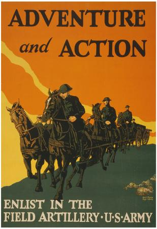 US Army Adventure and Action Vintage Ad Poster Print