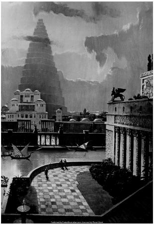 Tower of Babel Painting 1985 Archival Photo Poster
