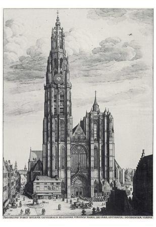 Wenceslas Hollar (Antwerp, Cathedral of Notre-Dame) Art Poster Print