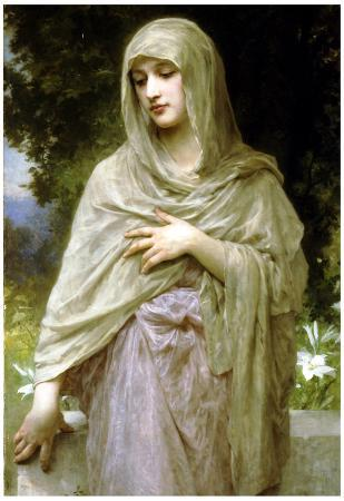 William-Adolphe Bouguereau Modestie Art Print Poster