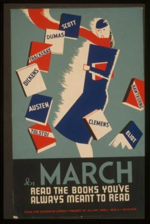 WPA (Read the Books) Art Poster Print