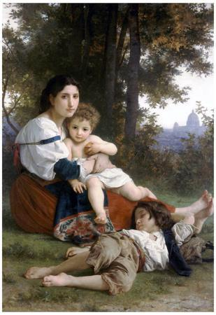 William-Adolphe Bouguereau Rest Art Print Poster