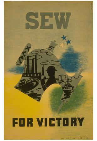 WPA (Sew for Victory) Art Poster Print