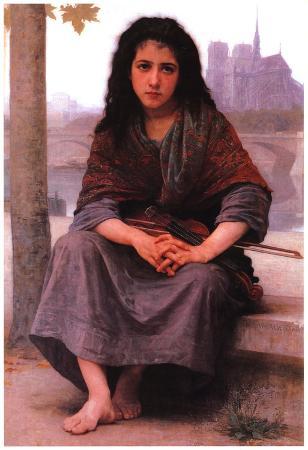 William-Adolphe Bouguereau The Bohemian Art Print Poster
