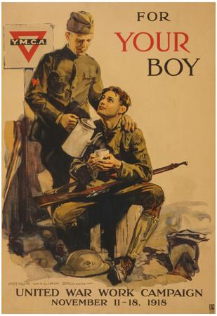 YMCA For Your Boy United War Work Campaign Vintage Ad Poster Print