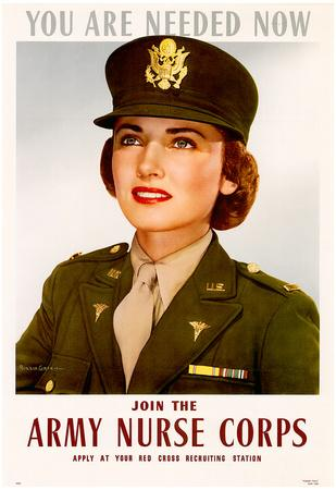 You Are Needed Now Join the Army Nurse Corps WWII War Propaganda Art Print Poster