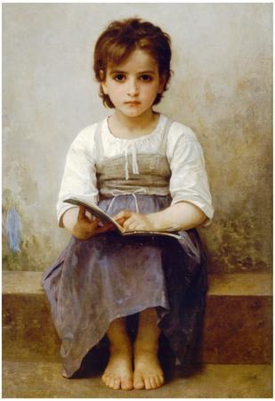 William-Adolphe Bouguereau The Difficult Lesson Art Print Poster