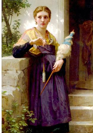 William-Adolphe Bouguereau The Spinne Art Print Poster