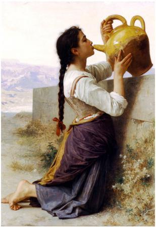 William-Adolphe Bouguereau Thirst Art Print Poster