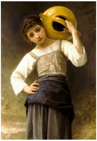 William-Adolphe Bouguereau Young Girl Going to the Spring Art Print Poster