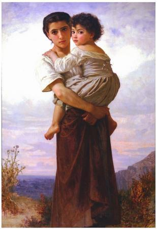 William-Adolphe Bouguereau Young Gypsies Art Print Poster