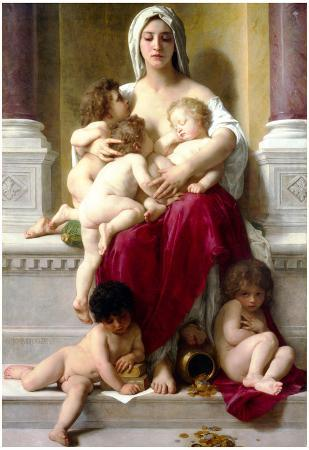 William-Adolphe Bouguereau Charity Art Print Poster