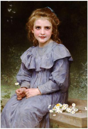 William-Adolphe Bouguereau Daisies Art Print Poster