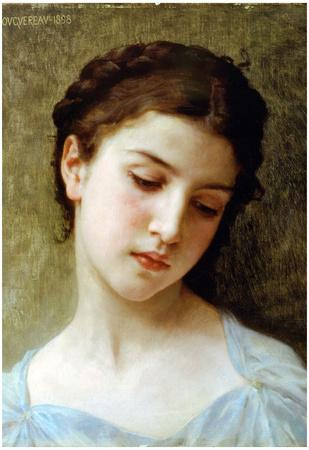 William-Adolphe Bouguereau Head Of A Young Girl 1898 Art Print Poster