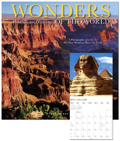 Wonders of the World - 2013 Wall Calendars