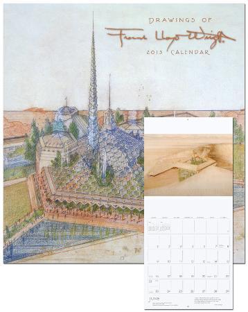 Drawings of Frank Lloyd Wright - 2013 Wall Calendar