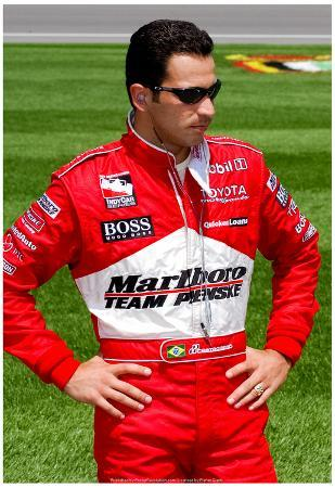 Helio Castroneves Kansas Speedway Archival Photo Sports Poster Print