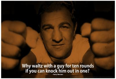 Rocky Marciano Knock Out iNspire 2 Quote Poster