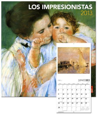 Los Impresionistas/Impressionists - 2013 Wall Calendar