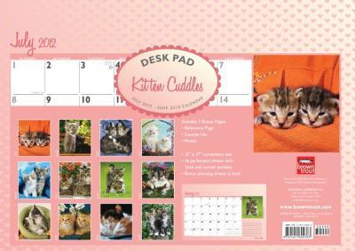 Kitten Cuddles - 2013 Academic Desk Pad