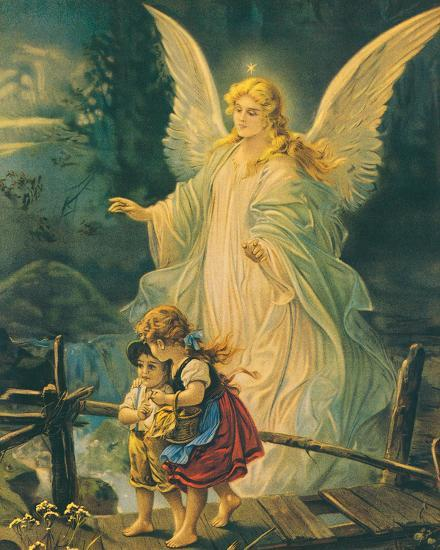 The Guardian Angel Posters By The Victorian Collection At AllPosters Simple Guardian Angel Throw Blanket