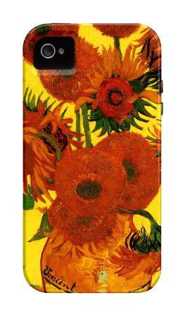 Still Life Vase with Fifteen Sunflowers