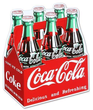 Coca Cola Coke Carton 6-Pack Bottles
