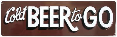 Cold Beer To Go Embossed Tin Sign