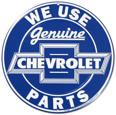 We Use Genuine Chevrolet Chevy Parts Round