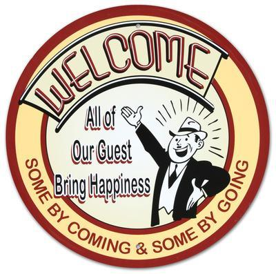Welcome All Our Guests Bring Happiness Round