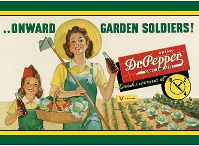 Dr Pepper Soda Onward Garden Soldiers