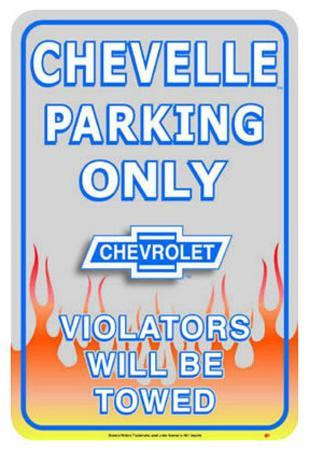 Chevrolet Chevy Chevelle Car Parking Only