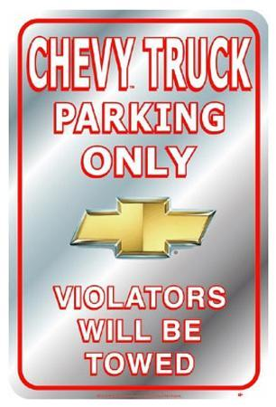 Chevrolet Chevy Truck Parking Only