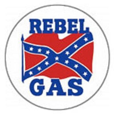 Rebel Gas Logo Round