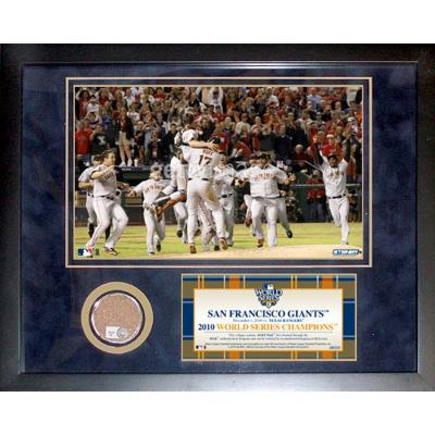 San Francisco Giants 2010 World Series Champions Mini Dirt Collage