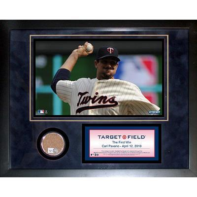 "Target Field ""First Win"" Mini Dirt Collage"
