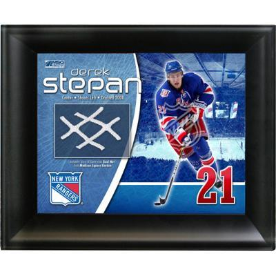 Derek Stepan New York Rangers Game Used Net Photo Collage
