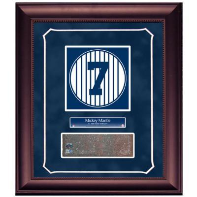 Mickey Mantle Retired Number Monument Park Brick Slice Collage w/ Nameplate
