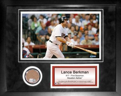 Lance Berkman Mini Dirt Collage