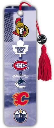 NHL Canada Logos Beaded Bookmark