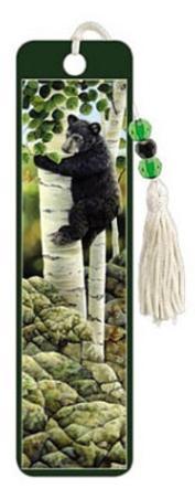 Bears in Tree Beaded Bookmark