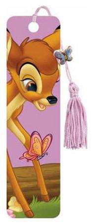 Bambi Movie Butterfly Beaded Bookmark