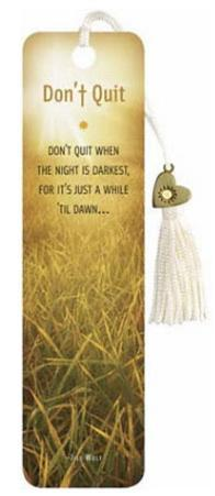 Don't Quit Beaded Bookmark