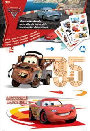 Cars 2 Movie Decorative Decals