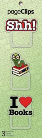 Book Worm Page Clips Bookmarks