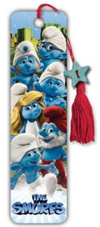 The Smurfs Movie Group Collector's Beaded Bookmark