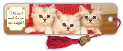 3 Kittens In Basket Beaded Bookmark