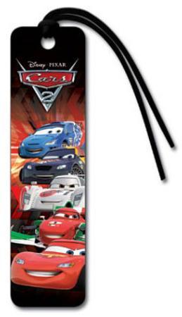 Cars 2 Movie Group Beaded Bookmark