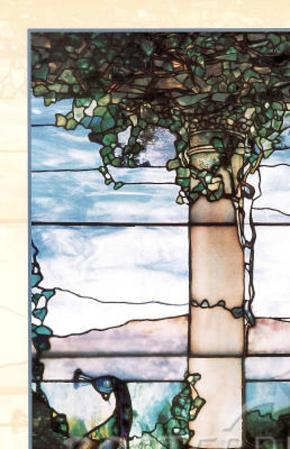 Louis Comfort Tiffany Stained Glass Window Landscape