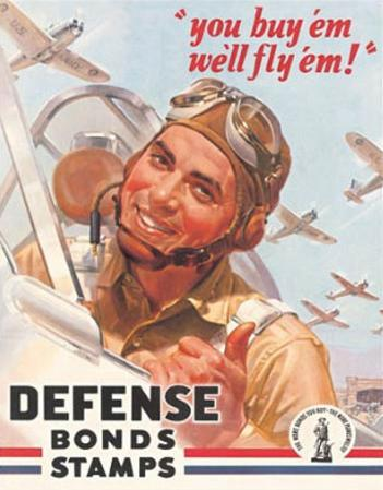 Defense War Bonds Stamps Air Force WWII